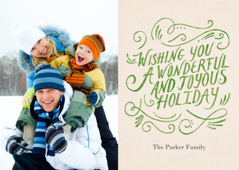 Holiday Photo Cards Mail-for-Me Premium 5x7 Folded Card , Card & Stationery -Joyous Holiday