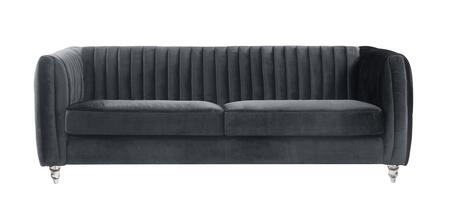 Maxx Collection FSA2666-AC 36 Sofa with Acrylic Material  Foam Filled Cushion and Velvet Fabric Upholstery in Grey