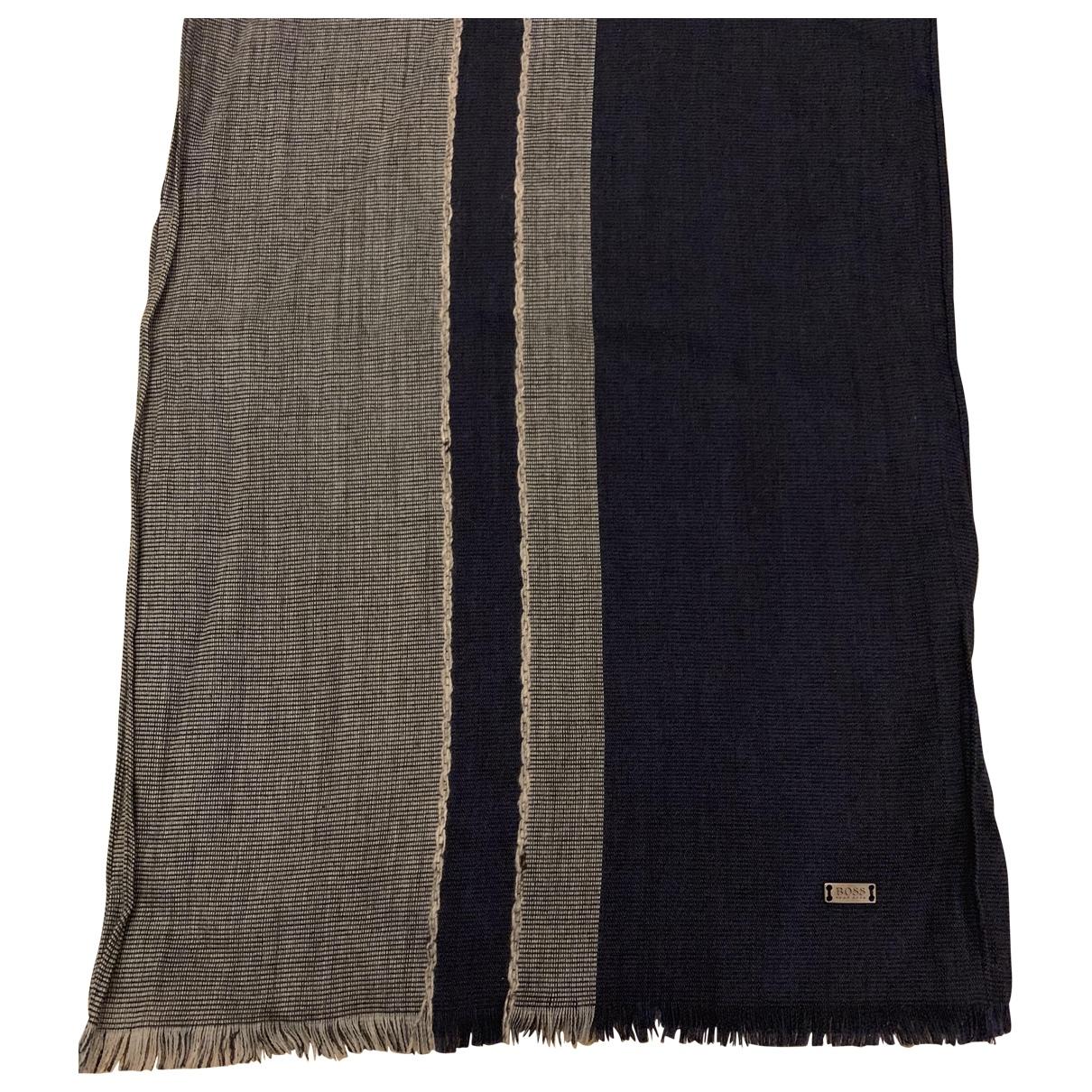 Hugo Boss \N Schal in  Blau Wolle