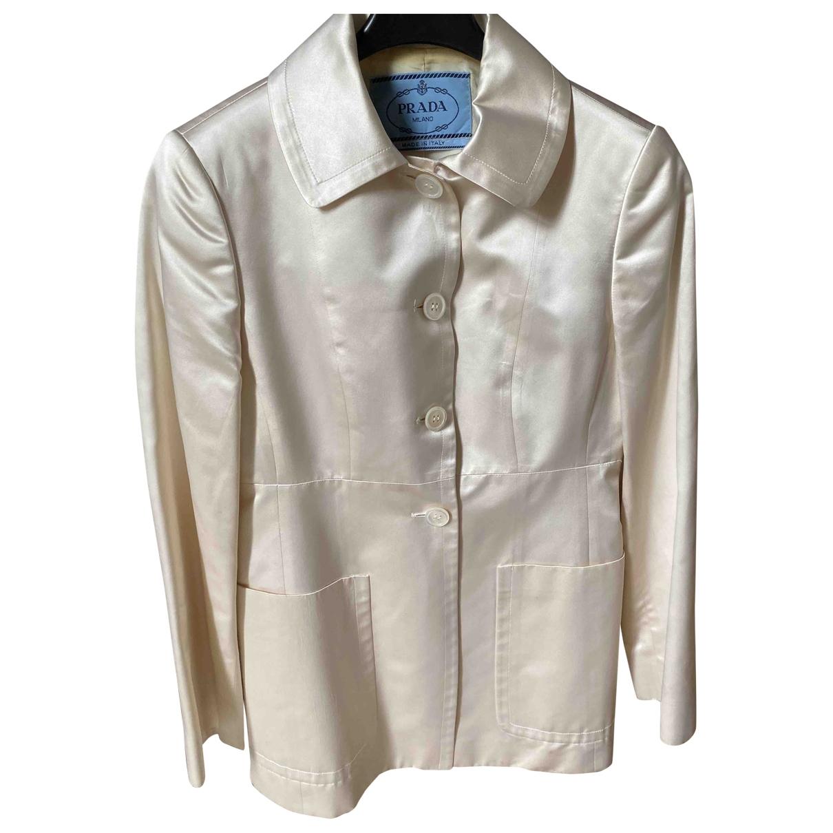 Prada \N White Silk jacket for Women 40 IT