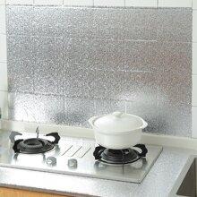 1roll Aluminum Foil Oil Proof Wall Sticker