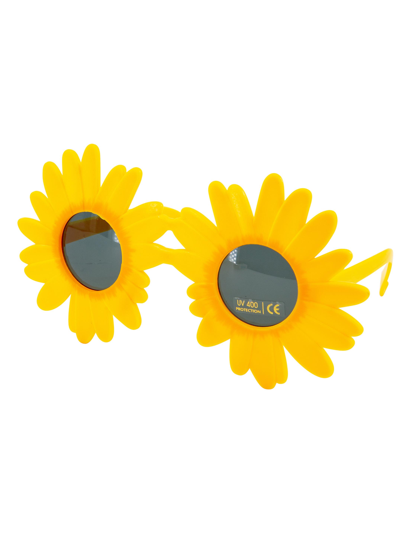 Kostuemzubehor Brille Sonnenblume Farbe: gelb