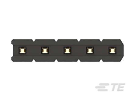 TE Connectivity , AMPMODU, 5 Way, 1 Row, Vertical PCB Header (58)