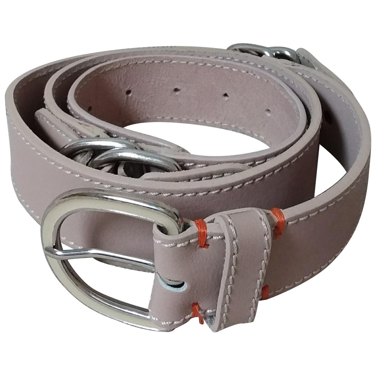 Hugo Boss \N Pink Leather belt for Women L International
