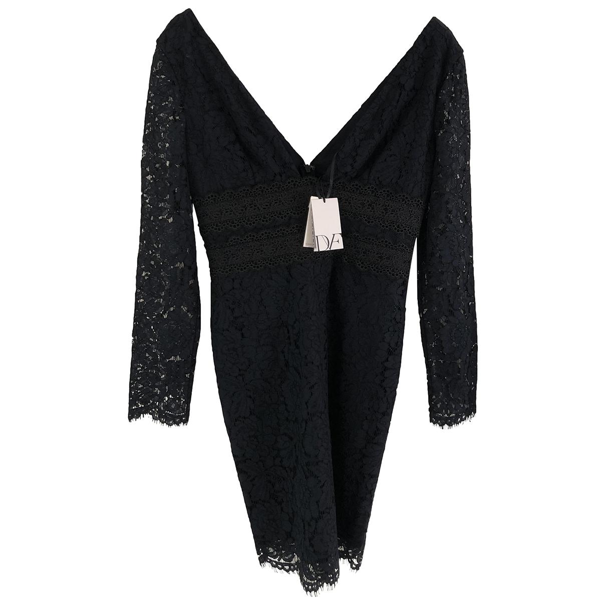 Diane Von Furstenberg \N Kleid in  Blau Spitze