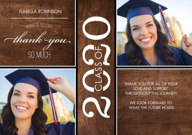 Graduation Thank You Cards 5x7 Cards, Premium Cardstock 120lb, Card & Stationery -Grad Thank You 2020 Class of by Tumbalina