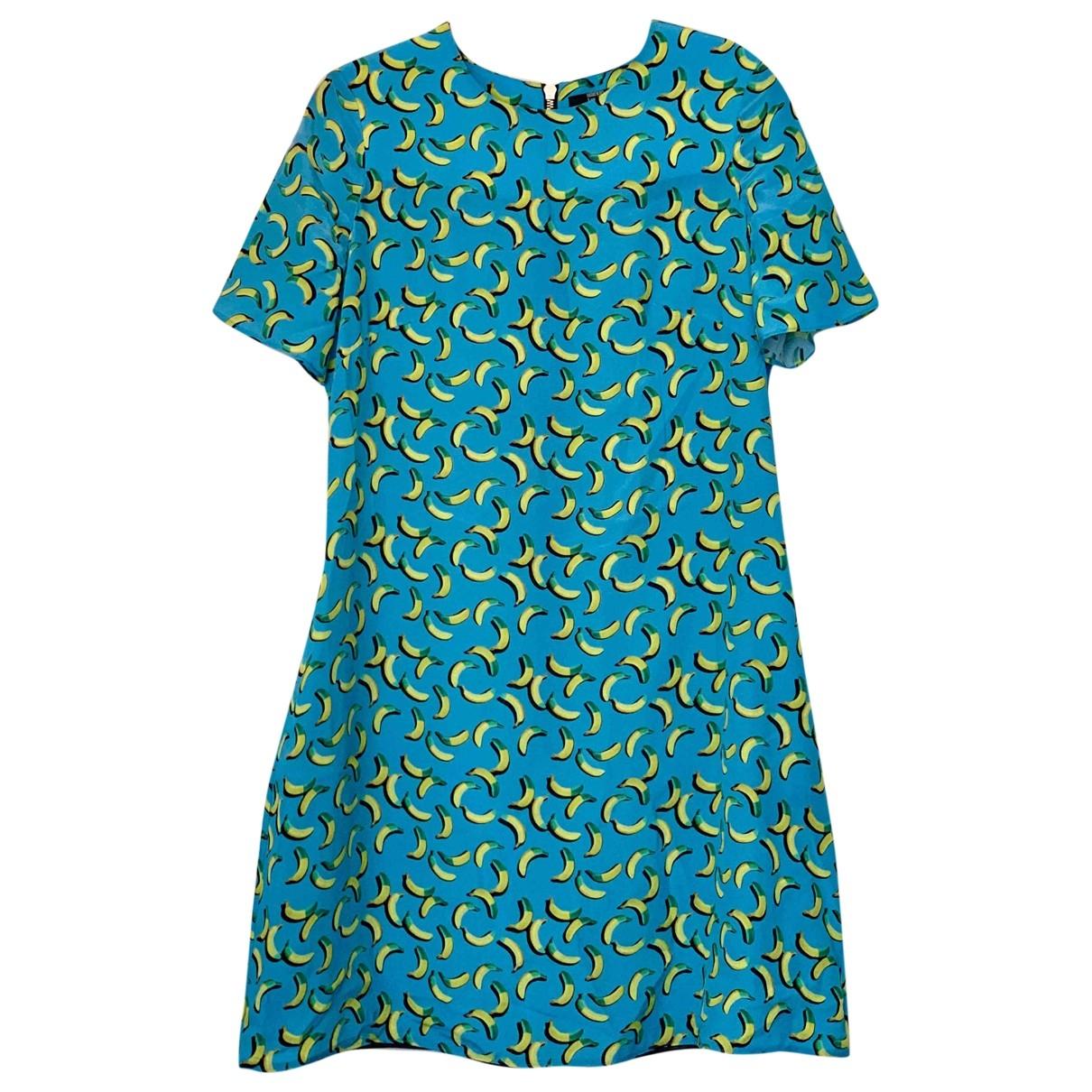 Markus Lupfer \N Kleid in  Blau Seide