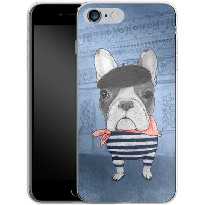 Apple iPhone 6 Plus Silikon Handyhuelle - French Bulldog with Arc de Triomphe von Barruf