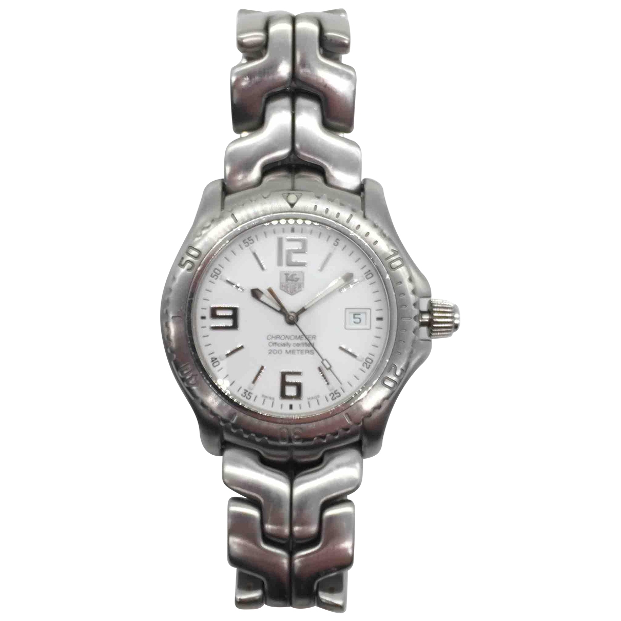 Tag Heuer Link  Uhr in  Weiss Stahl
