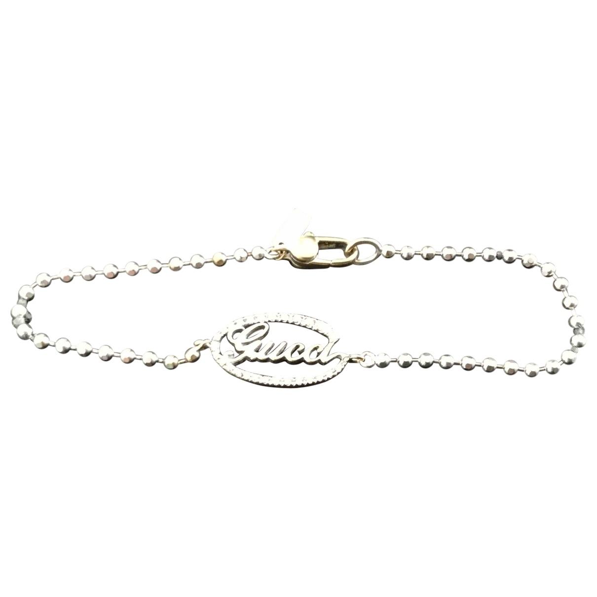 Gucci \N Silver White gold bracelet for Women \N