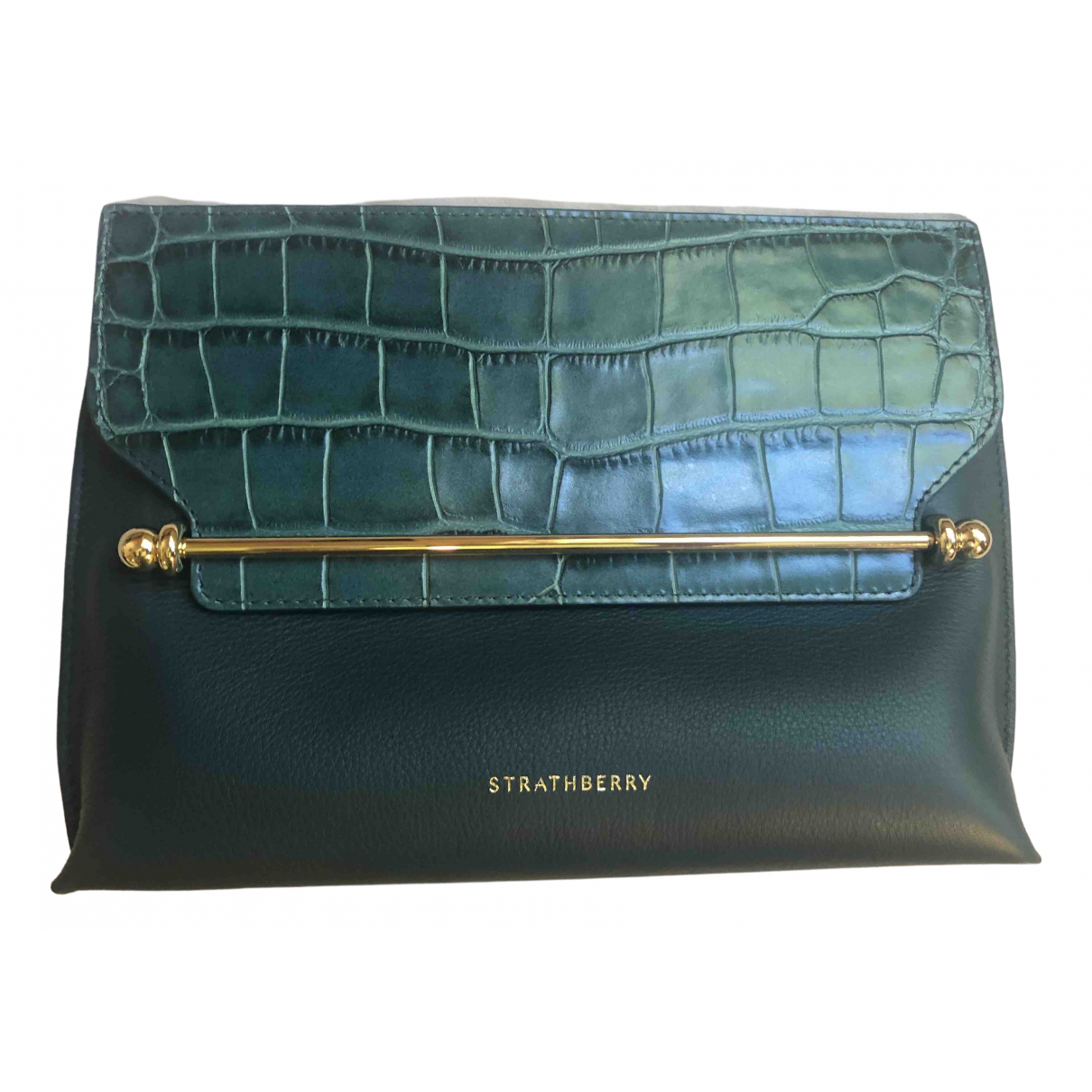 Strathberry \N Turquoise Leather handbag for Women \N