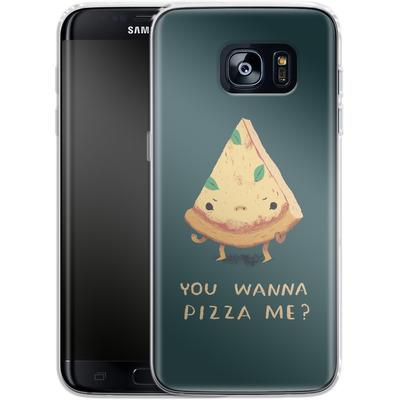 Samsung Galaxy S7 Edge Silikon Handyhuelle - You Wanna Pizza Me? von Louis Ros