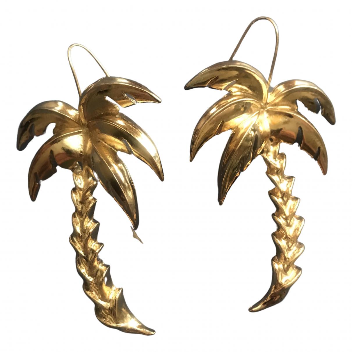 - Boucles doreilles Motifs Floraux pour femme en acier - dore