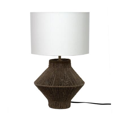 Newport Collection OD-1011-24 Table Lamp with Hand Loomed Cotton Shade in Natural
