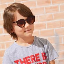 Kids Round Frame Flat Lens Sunglasses