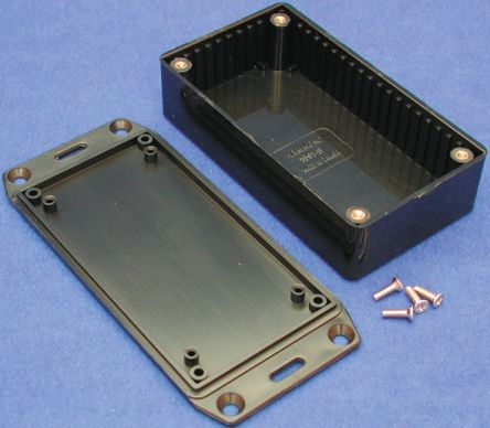 Hammond 1591, Black ABS Enclosure, IP54, Flanged, 100 x 50 x 21mm