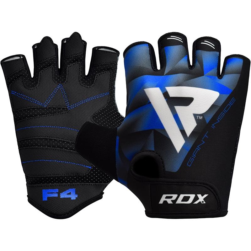 RDX F4 Gants de Musculation X Grande  Bleu Lycra