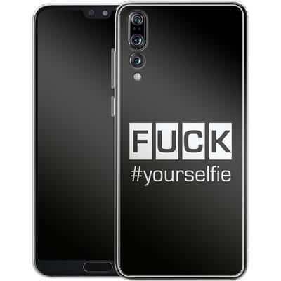 Huawei P20 Pro Silikon Handyhuelle - Fck Yourselfie von Statements