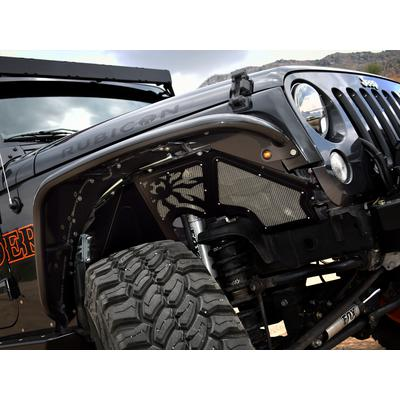 Poison Spyder JK Vented Front Inner Fender Kit (Black) - 17-02-080VP1
