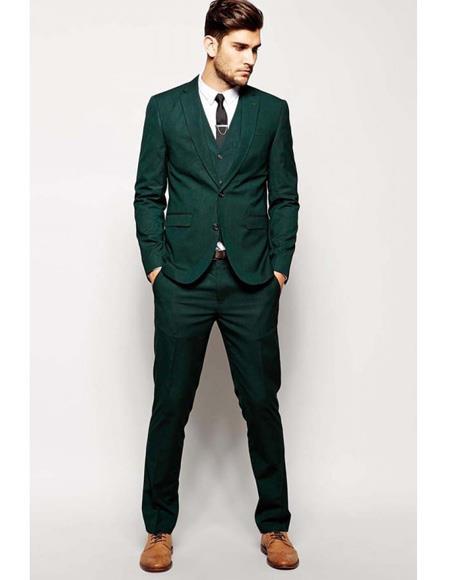 Mens Beach Wedding Attire Suit Menswear Green 199