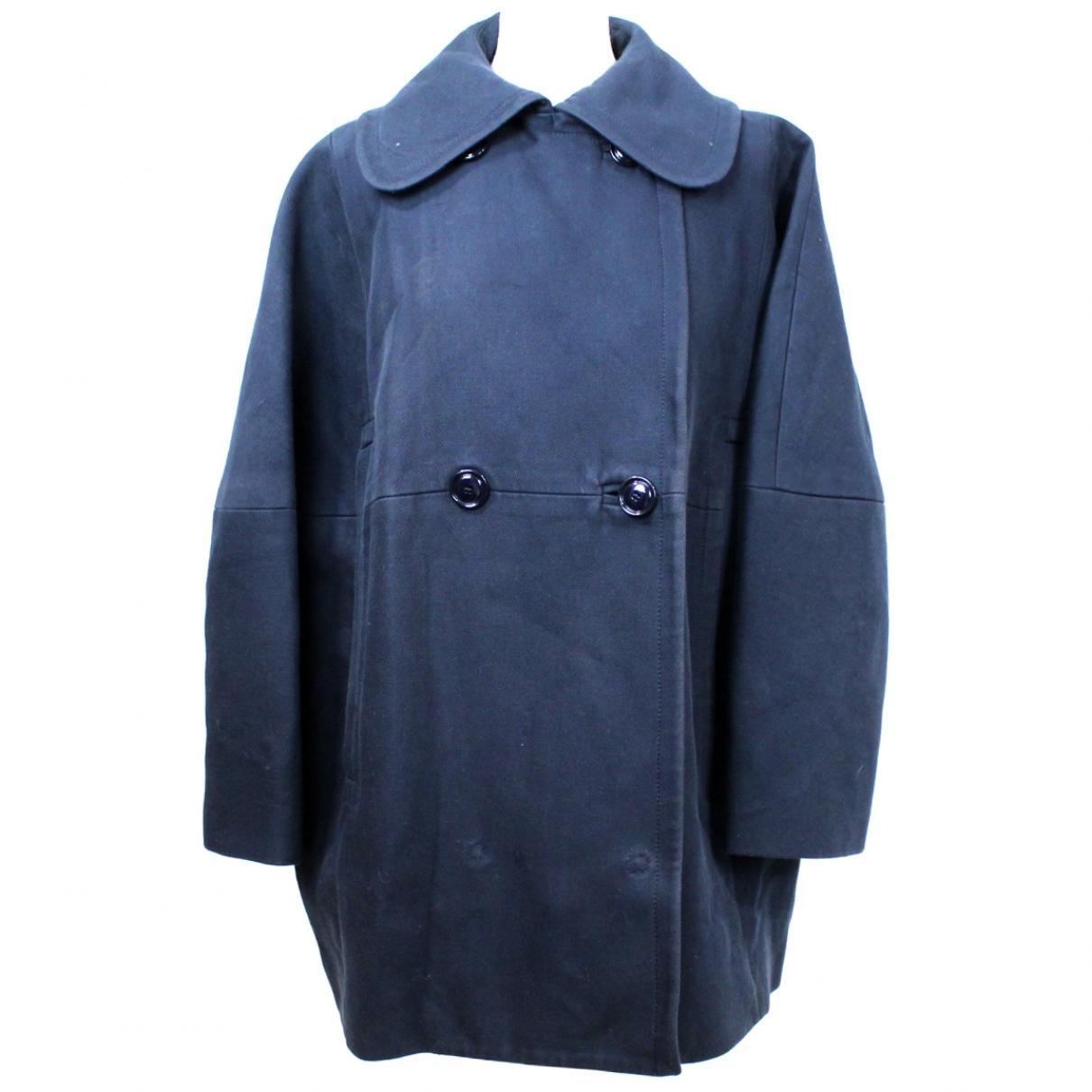 Carven \N Navy Cotton coat for Women 40 FR