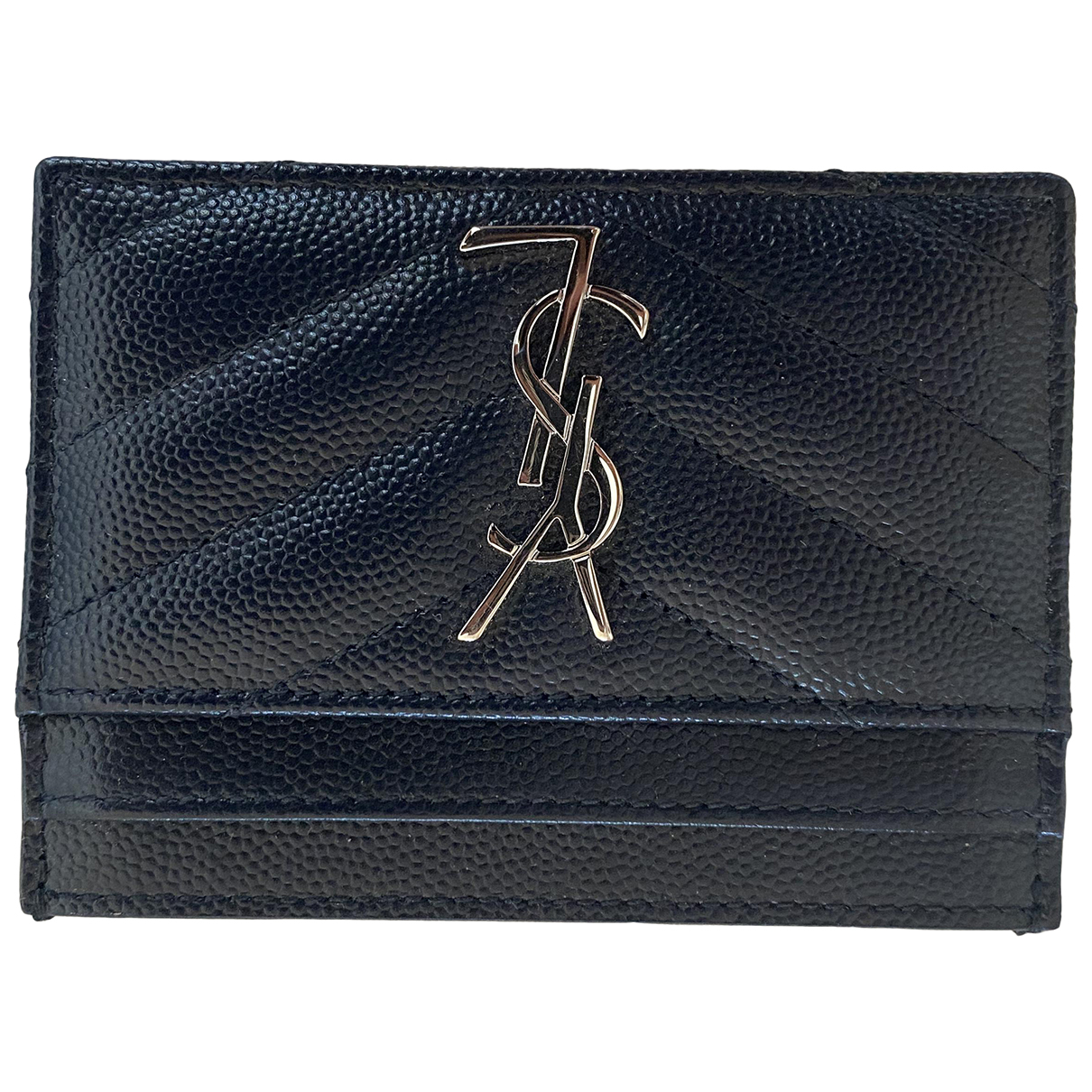Saint Laurent Monogramme Navy Leather Purses, wallet & cases for Women \N