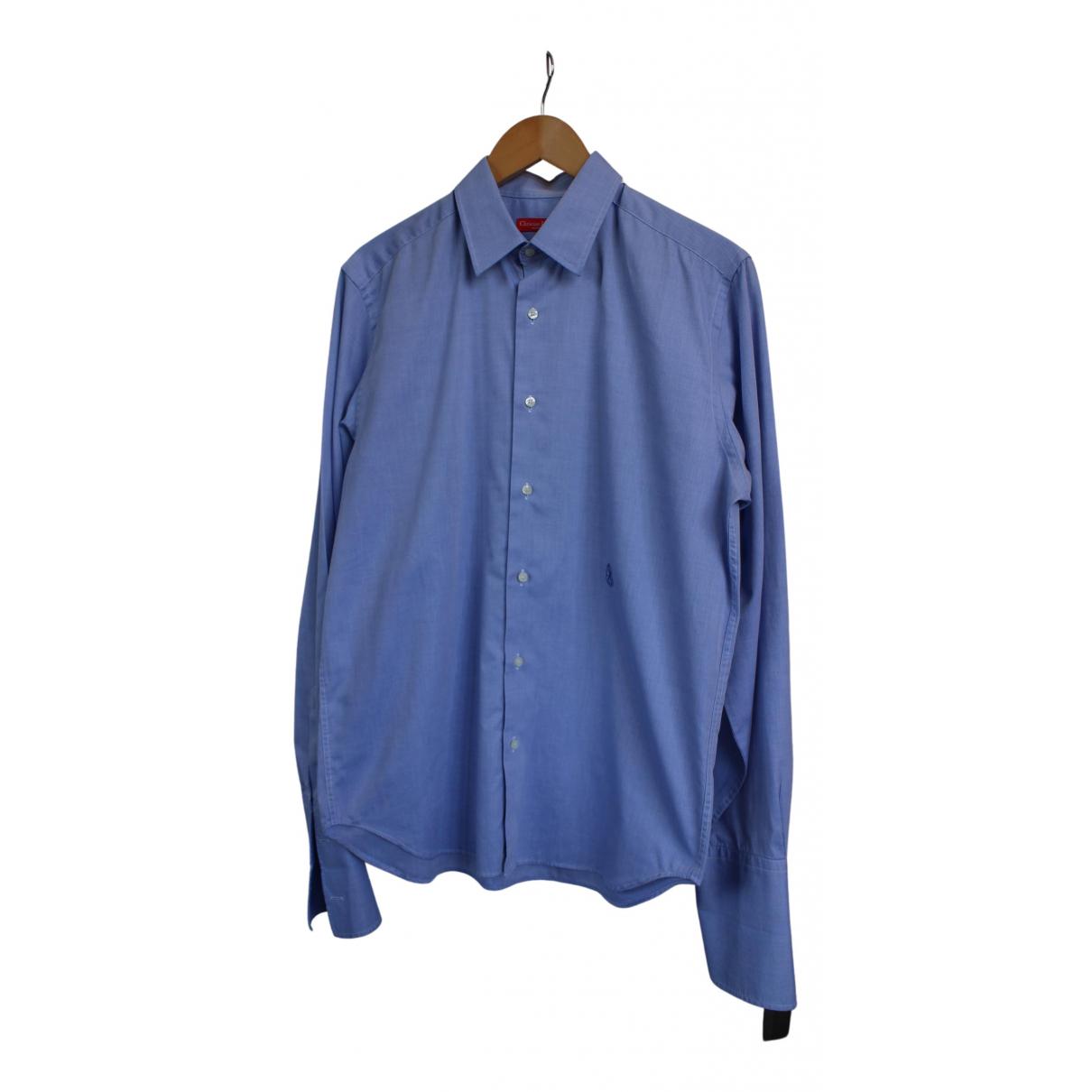 Christian Lacroix N Blue Cotton Shirts for Men 41 EU (tour de cou / collar)