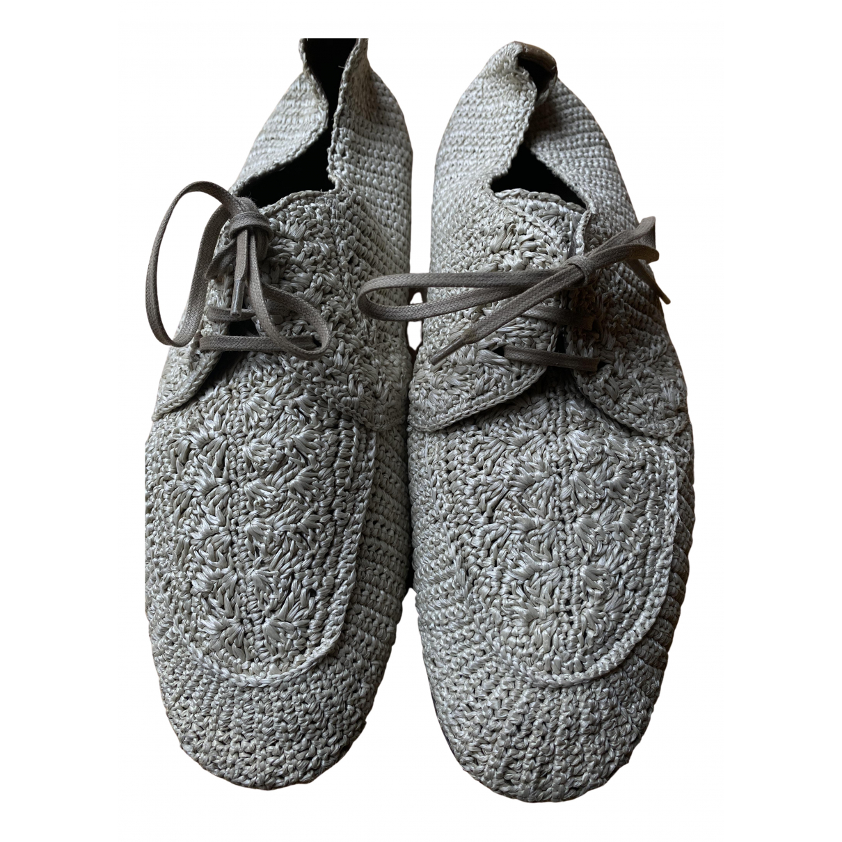 Dolce & Gabbana \N Schnuerschuhe in  Khaki Leder