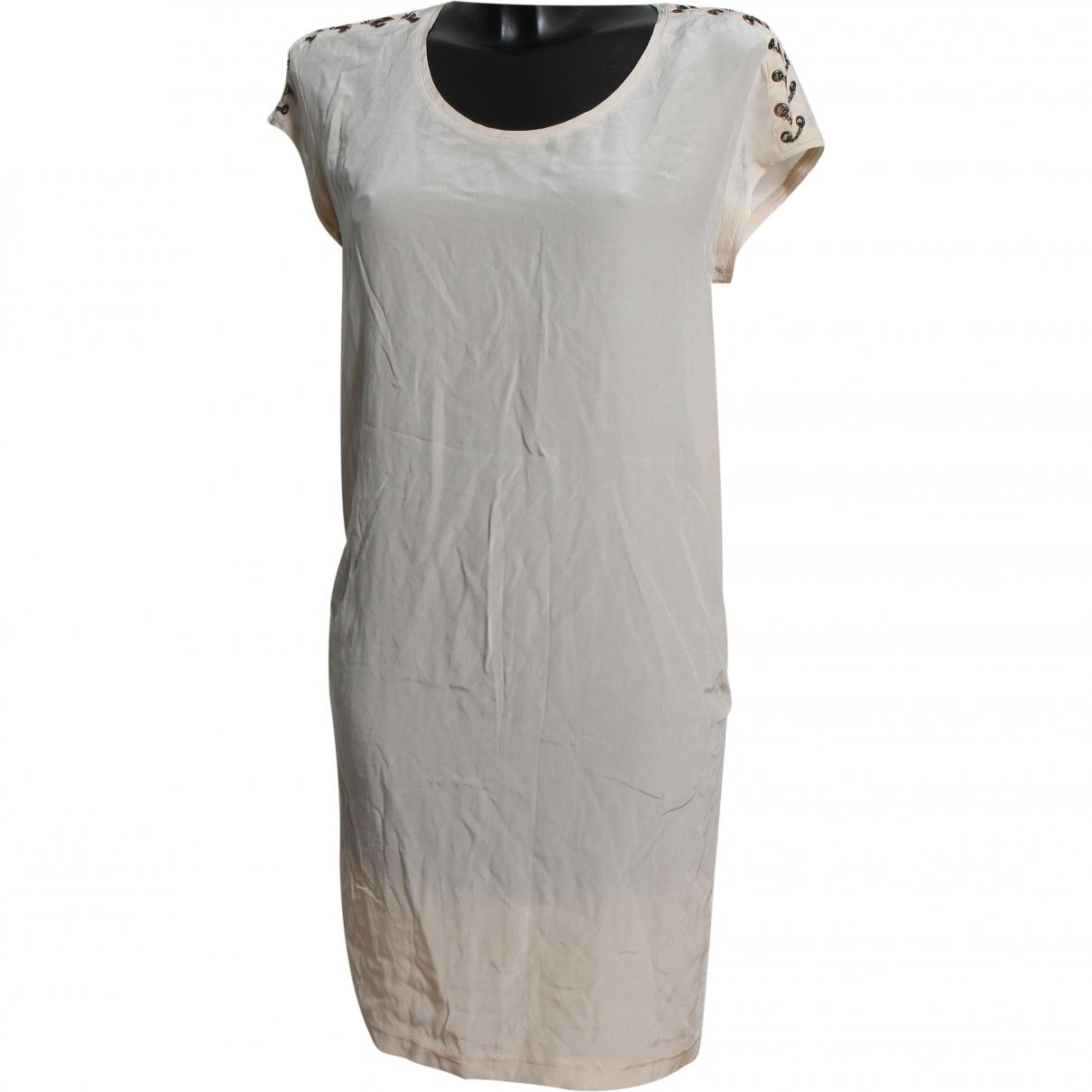 Maje \N Beige Silk dress for Women S International