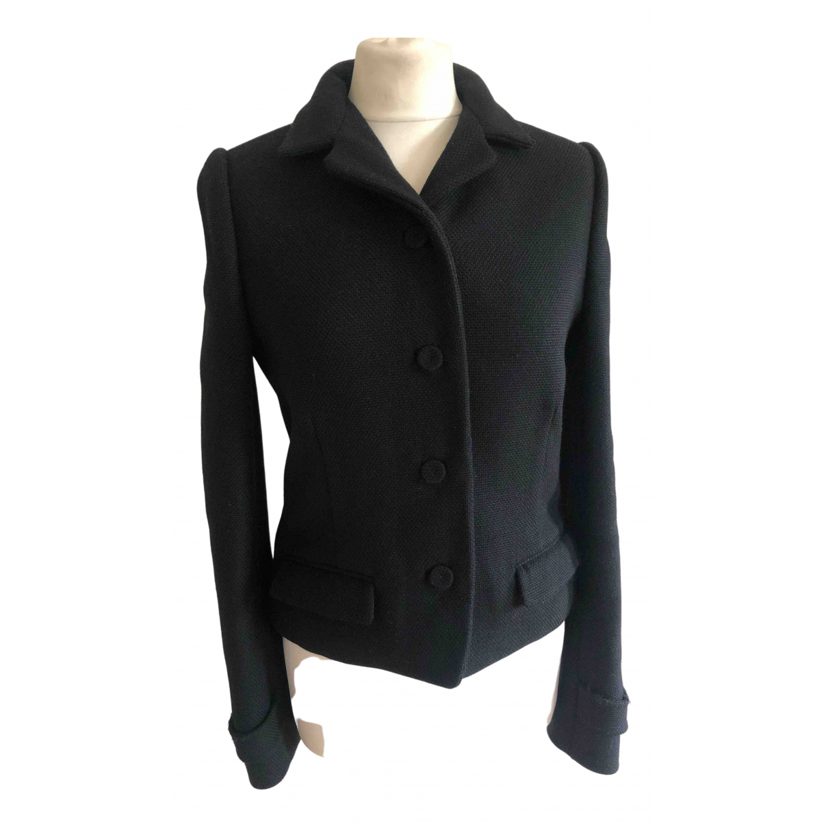Balenciaga \N Black Wool jacket for Women 42 FR