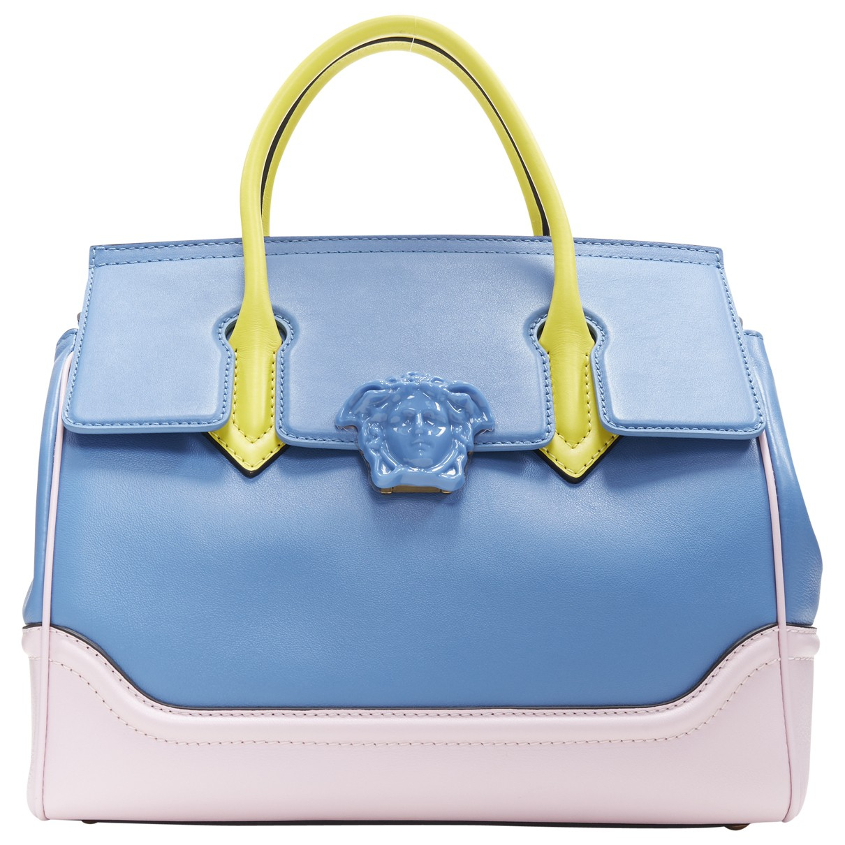 Versace \N Clutch in  Blau Leder
