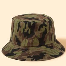 Camo Pattern Reversible Bucket Hat