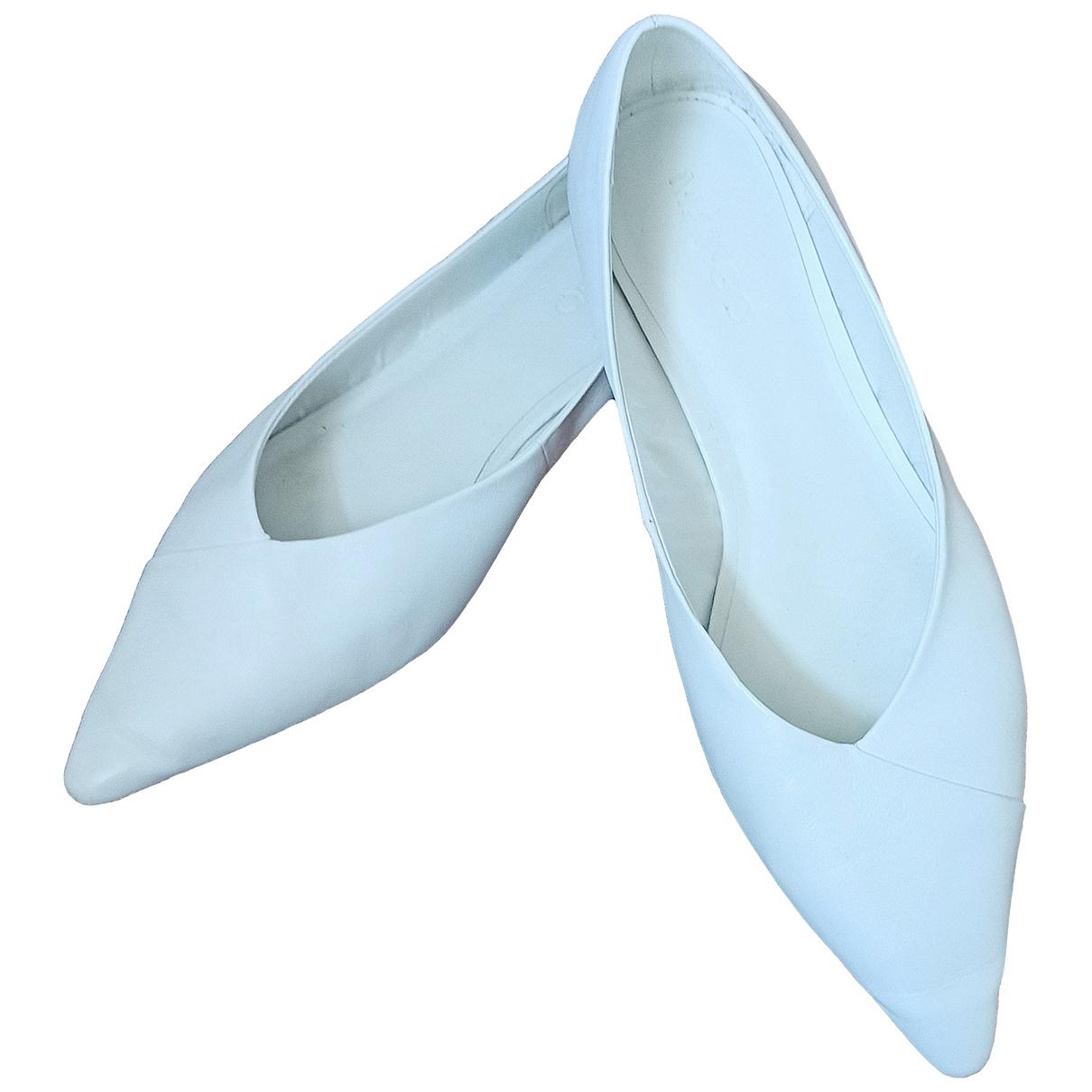 Mango \N Ballerinas in  Weiss Leder