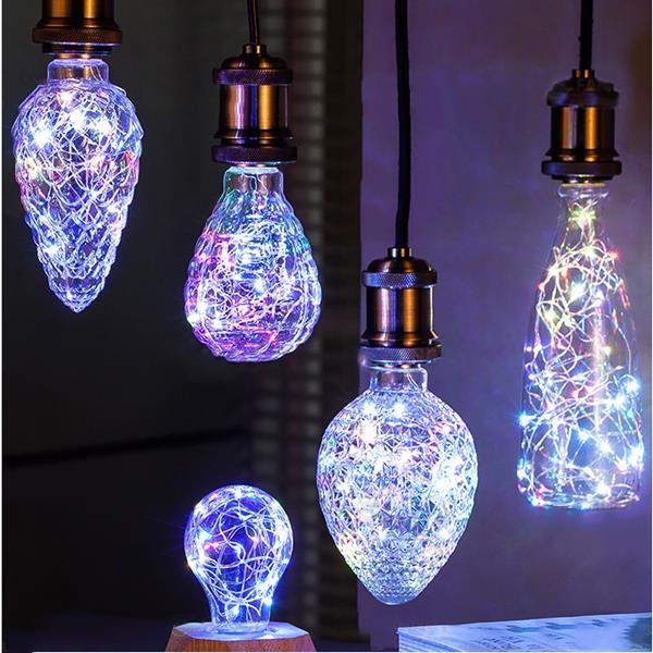 E27 3W Vintage Edison LEDMulti-color Holiday Democratic Light Bulb For Party Christmas AC85-265V