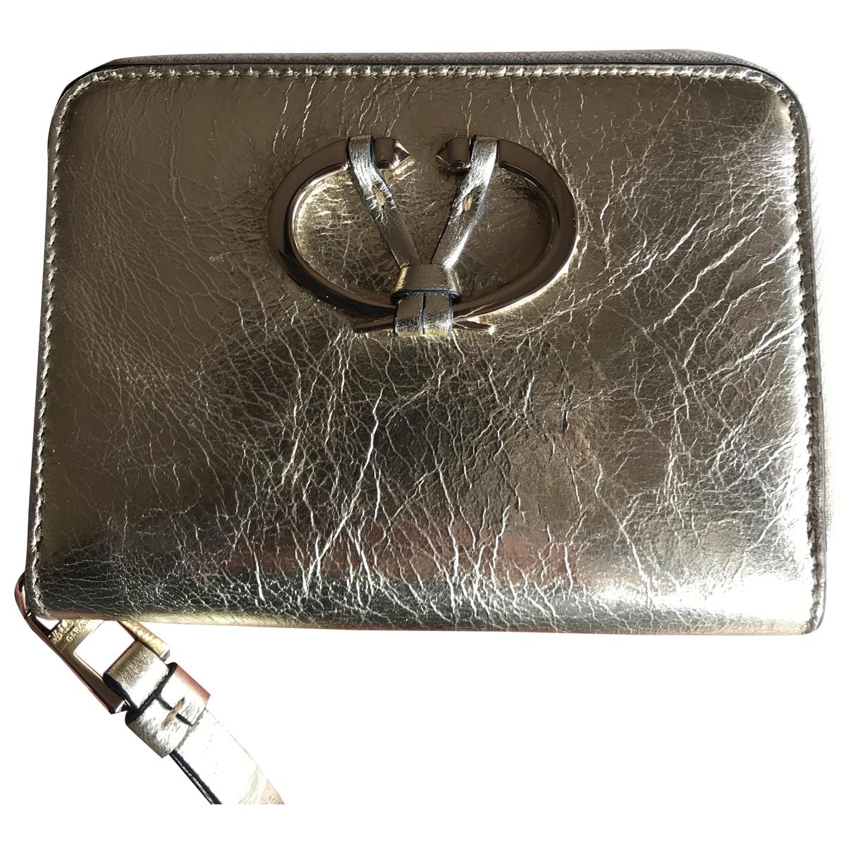 Valentino Garavani \N Gold Leather wallet for Women \N