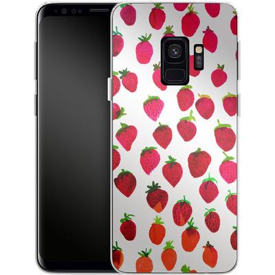 Samsung Galaxy S9 Silikon Handyhuelle - Strawberries von Amy Sia