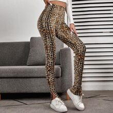 Leggings Particion Leopardo Casual