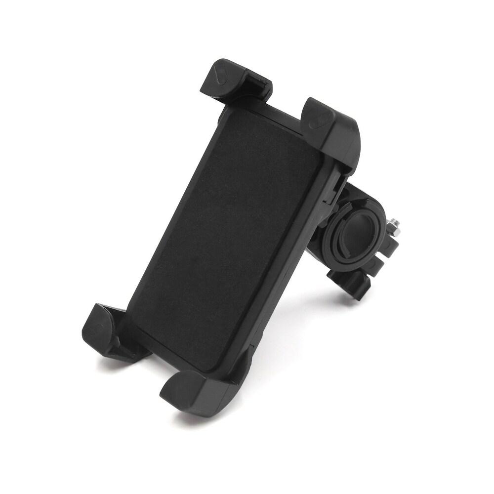 Black 360 Degree Rotation Bicycle Bike Handlebar Phone Mount Holder Cradle (Black)