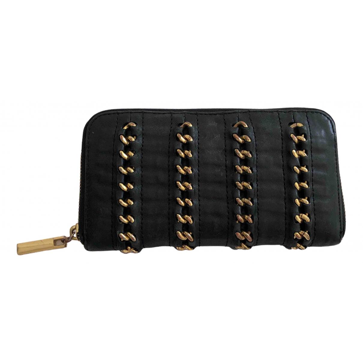 Tory Burch - Portefeuille   pour femme en cuir - noir