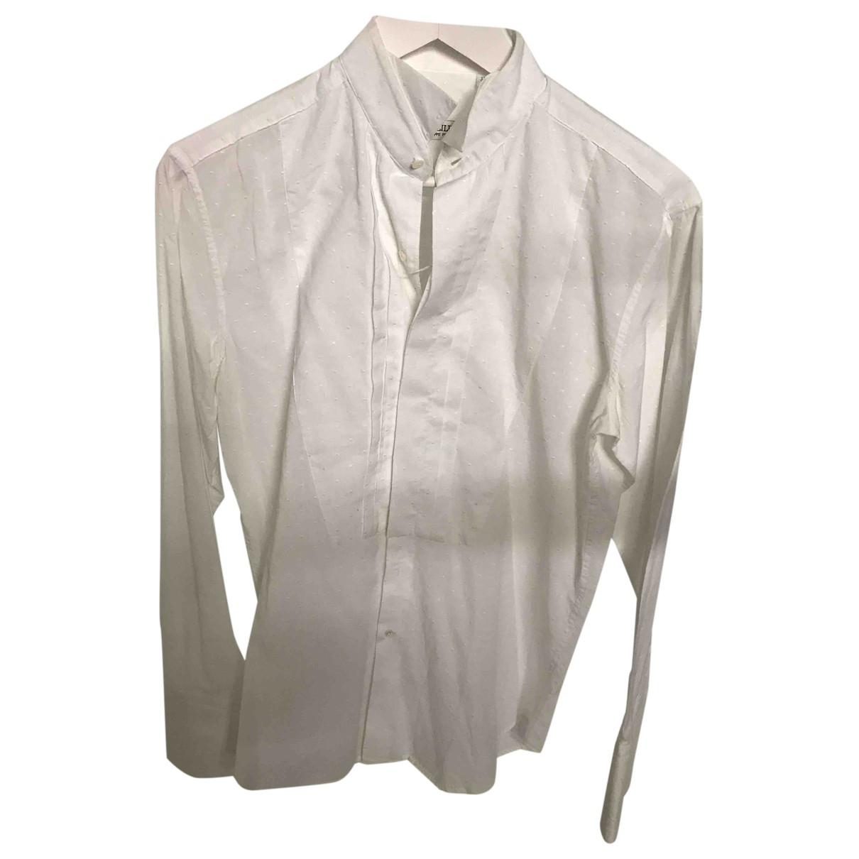 Pal Zileri \N White Cotton Shirts for Men 15 UK - US (tour de cou / collar)