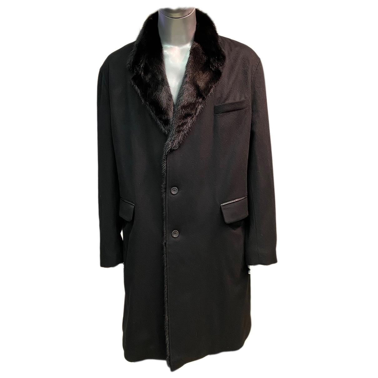- Manteau   pour homme en cachemire - noir