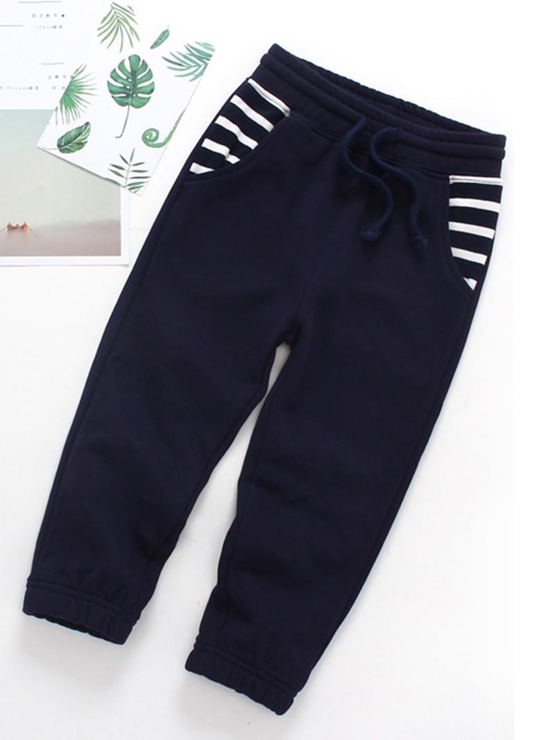 Ericdress Comfort Plain Stripe Patchwork Lace-Up Fall Boys Pant