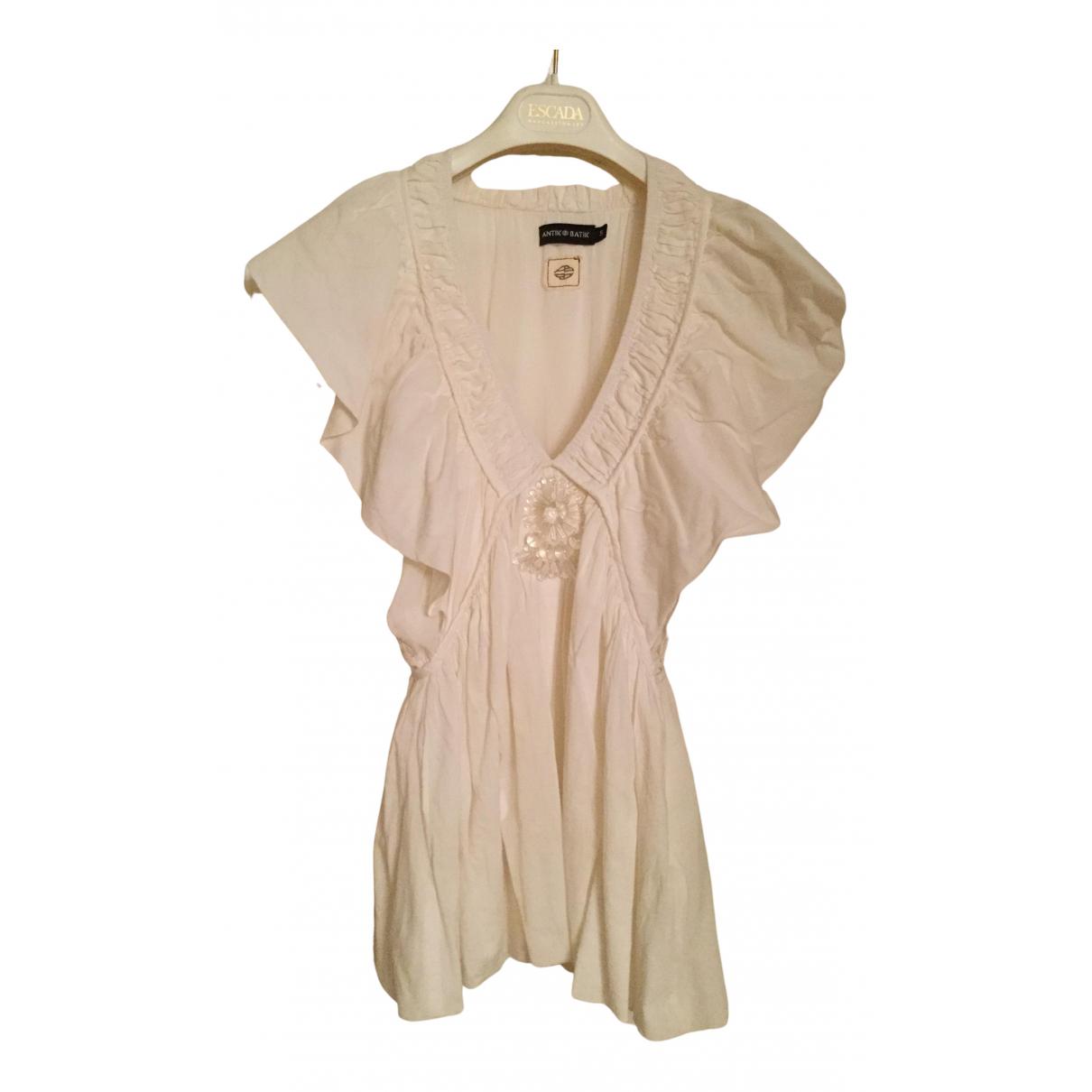 Antik Batik N White Cotton  top for Women S International