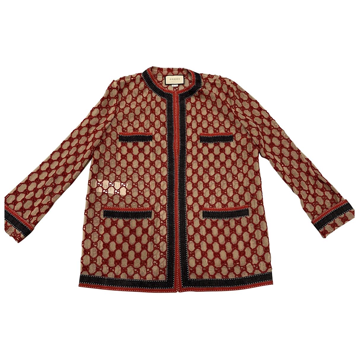 Gucci - Pull   pour femme en coton - bordeaux