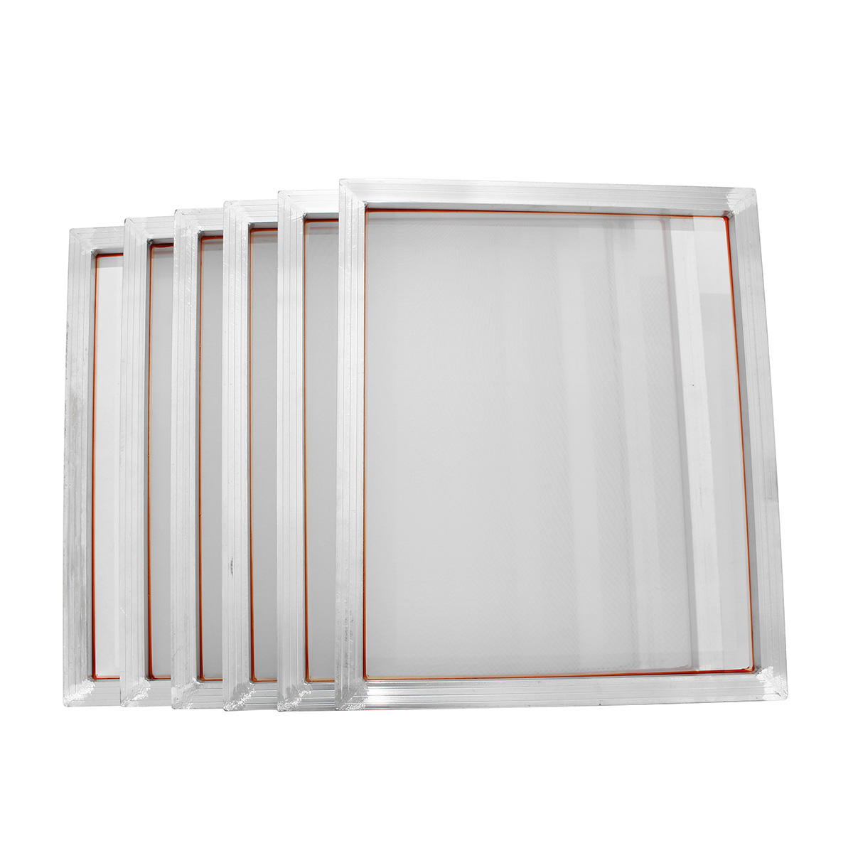 160 Mesh Silk Screen Printing Screen With Aluminum Frame White Polyester