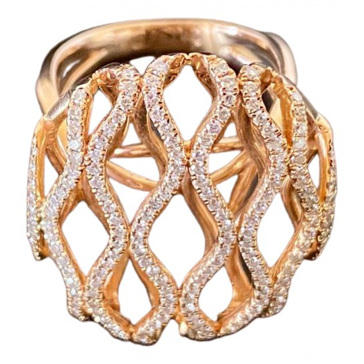 Non Signe / Unsigned \N Ring in  Gold Rosegold