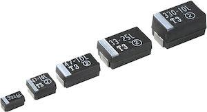 Vishay Tantalum Capacitor 100μF 6.3V dc Tantalum Solid ±10% Tolerance , 293D (500)