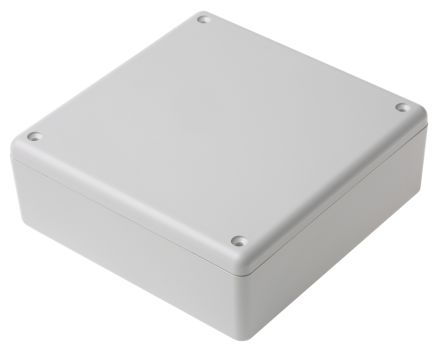 RS PRO White ABS Enclosure, 125 x 125 x 45mm