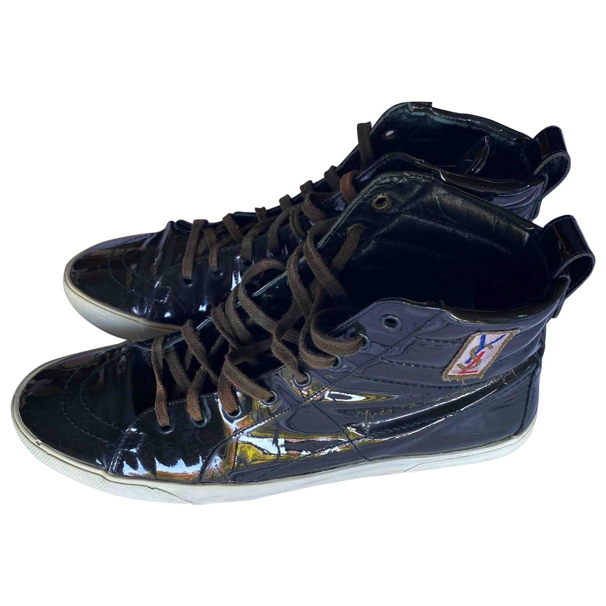 Yves Saint Laurent \N Sneakers in  Schwarz Lackleder