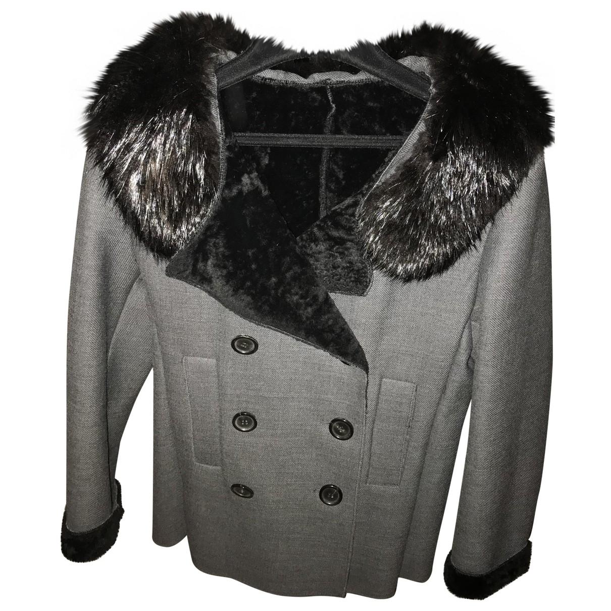 Prada \N Maentel in  Grau Wolle